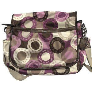 COACH Multi Color Fabric Shoulder Bag